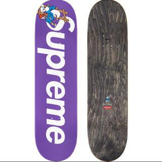 シュプリーム(Supreme)の紫 Supreme Smurfs Skateboard シュプリーム  スマーフ(スケートボード)
