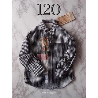 ゴートゥーハリウッド(GO TO HOLLYWOOD)のGO TO HOLLYWOOD  ギンガムチェックシャツ 【120】(ブラウス)