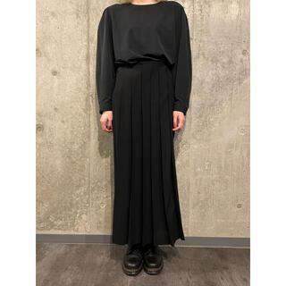 ヨウジヤマモト(Yohji Yamamoto)のヨウジヤマモト ウールナイロン混 フロントプリーツロングスカート #[759](ロングスカート)