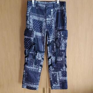オフホワイト(OFF-WHITE)のRogic paisly bontage pants Mサイズ(ワークパンツ/カーゴパンツ)