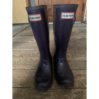 ハンターの長靴 レインブーツ UK13 19センチ オーベルジン 男女OK