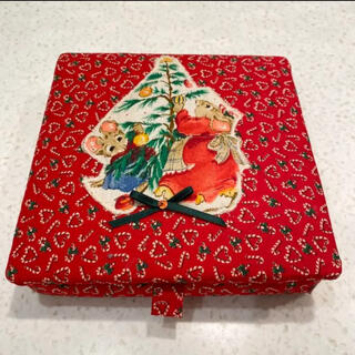 クリスマス ハンドメイド キルトボックス (雑貨)
