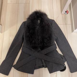 ピンキーアンドダイアン(Pinky&Dianne)のファー付きジャケット(毛皮/ファーコート)