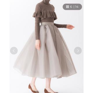 ツルバイマリコオイカワ(TSURU by Mariko Oikawa)のオーガンジーロングスカート(ロングスカート)