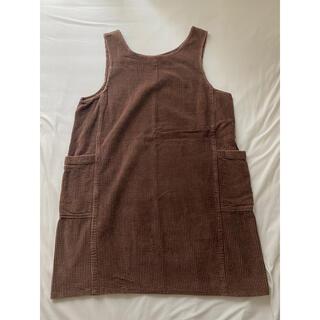 ロキエ(Lochie)のcorduroy brown mini one-piece(ミニワンピース)