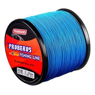 PEライン 高強度 PRO 0.8号 10lb/500m巻き カラー/ブルー 釣(釣り糸/ライン)