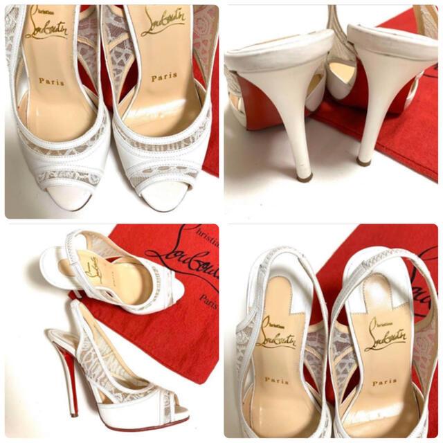 Christian Louboutin(クリスチャンルブタン)のクリスチャンルブタン 34.5(21.5cm)パンプス/サンダル ホワイト レディースの靴/シューズ(サンダル)の商品写真