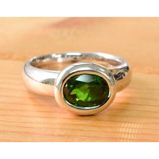 セイコー(SEIKO)のK18WG クロムダイオプサイト リング  ソーティング付き(リング(指輪))