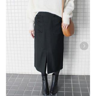 イエナスローブ(IENA SLOBE)のスローブイエナ タイトスカート ブラック☆(ロングスカート)