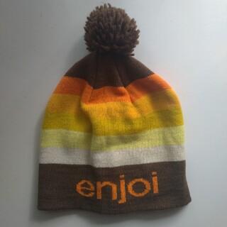 エンジョイ(enjoi)のenjoi ニット帽 エンジョイ ボンボン ポンポン(ニット帽/ビーニー)