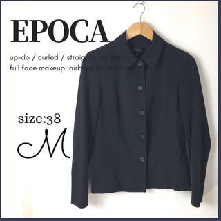 エポカ(EPOCA)のエポカ EPOCA ジャケット サイズ 38 M相当 黒 (テーラードジャケット)