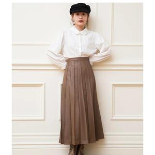 ヴィス(ViS)の【高橋愛×ViS】エコレザーピンタックフレアスカート (ロングスカート)
