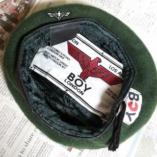 Boy London - B4 入手困難 レア デッドストック 90s ビンテージ BOY ベレー帽 緑