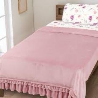 ニトリ(ニトリ)の毛布フリル付き(毛布)