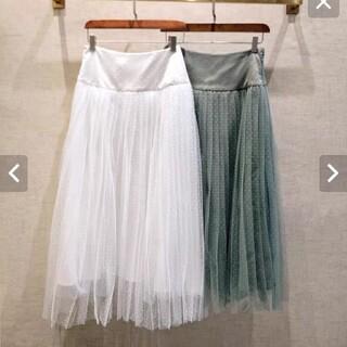 クリスチャンディオール(Christian Dior)のドッドチュールスカート(ロングスカート)