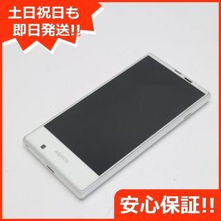 シャープ(SHARP)の新品同様 au SHV31 AQUOS SERIE mini ホワイト (スマートフォン本体)