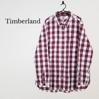 ティンバーランド(Timberland)のTimberland  【XL】シャツ  長袖 チェック メンズ  ビッグサイズ(シャツ)