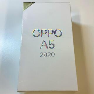【新品未開封】OPPO A5 2020 グリーン 楽天モバイル版(スマートフォン本体)