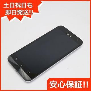 エイスース(ASUS)の美品 SIMフリー ZenFone2 Laser ZE500KL ホワイト (スマートフォン本体)