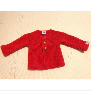 プチバトー(PETIT BATEAU)のプチバトー 赤セーター(ニット/セーター)