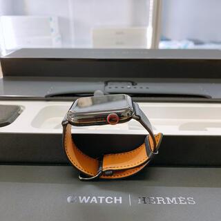 アップルウォッチ(Apple Watch)の美品 Apple Watch Series 5 エルメス44mm ブラック(腕時計(デジタル))