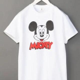 ユナイテッドアローズ(UNITED ARROWS)の値下げ!roku(6) Tシャツ ミッキー(Tシャツ(半袖/袖なし))