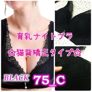 育乳ナイトブラ☆75C&ガードル黒M(ブラ)