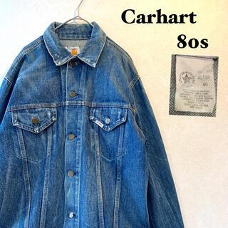 カーハート(carhartt)の<Carhart>ヴィンテージ☆ 80s USA製 デニムジャケット 雰囲気◎(Gジャン/デニムジャケット)