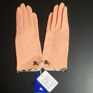 バーバリーブルーレーベル(BURBERRY BLUE LABEL)の新品❗BURBERRYBLUE LABEL ノバチェック使いカシミヤ混ニット手袋(手袋)