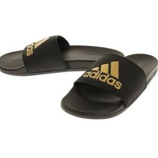 adidas - 新品 送料込み アディダス 黒 アディレッタ 28.5センチ ゴールド サンダル