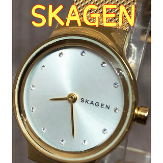スカーゲン(SKAGEN)の腕時計 レディース  SKAGEN スカーゲン 金属ベルト 稼働品 クォーツ(腕時計)