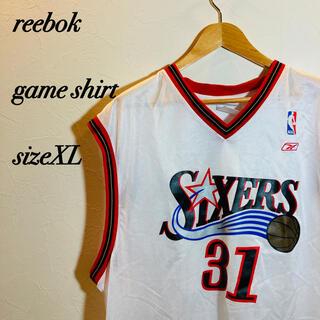 リーボック(Reebok)のsixers reebok リーボック  ゲームシャツsizeXL ユニホーム(バスケットボール)