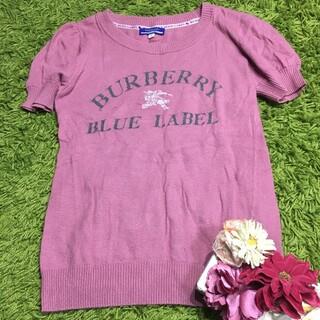 バーバリーブルーレーベル(BURBERRY BLUE LABEL)のburberryバーバリーブルーレーベル キュートなレディニットトップス(カットソー(長袖/七分))