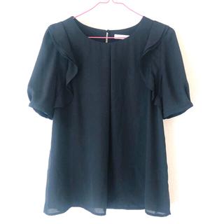 エージーバイアクアガール(AG by aquagirl)のアクアガール トップス キレイめ シフォンブラウス ブラック 黒(シャツ/ブラウス(半袖/袖なし))