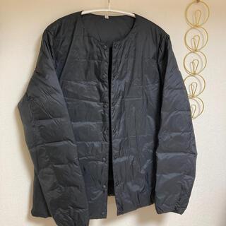 ムジルシリョウヒン(MUJI (無印良品))の軽量ポケッタブルダウンジャケット 婦人S・黒(ノーカラージャケット)