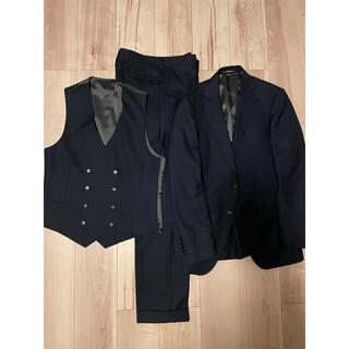 ORIHICA - ORIHICA オリヒカ スーツ 上下 ベスト付き 紺無地  Y6 美品