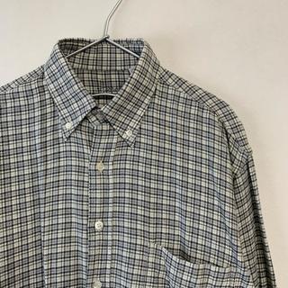 ハロッズ(Harrods)の美品 Harrods イタリア製 長袖ネルシャツ グレー コットン(シャツ)