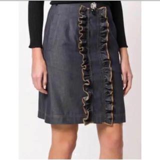 ヌメロヴェントゥーノ(N°21)のn21 デニムラッセルスカート(ひざ丈スカート)