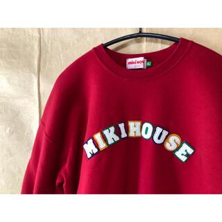 ミキハウス(mikihouse)の美品 ミキハウス トレーナー L 赤(スウェット)