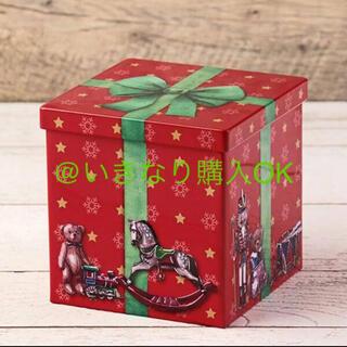 カルディ(KALDI)のカルディ★クリスマスプレゼントボックス缶★アフタヌーンティー フライングタイガー(小物入れ)