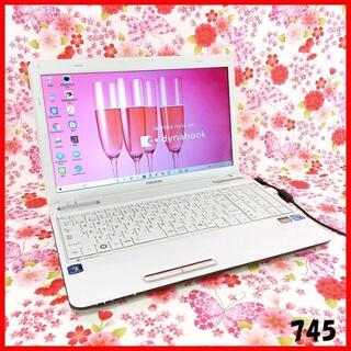 トウシバ(東芝)のノートパソコン本体♪Corei5♪新品SSD♪Blu-ray♪Windows10(ノートPC)