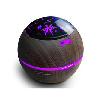 アロマディフューザー 超音波式アロマ加湿器 空気清浄機 星空 LEDライト7色 (体重計)