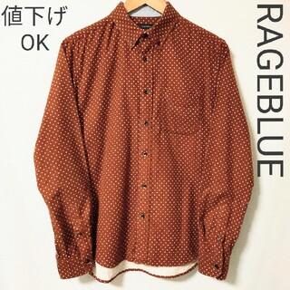 レイジブルー(RAGEBLUE)の【RAGEBLUE】長袖 ドット柄 ボタンダウン シャツ(シャツ)