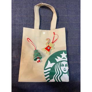スターバックスコーヒー(Starbucks Coffee)の新品未使用 スターバックス オーナメント 2個セット エコバッグ(その他)