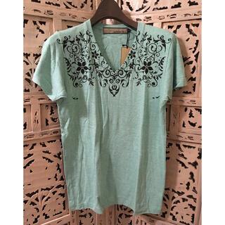 アユイテ(AYUITE)の新品 AYUITE アユイテ ブイネックプリントTシャツ GRN 1(Tシャツ/カットソー(半袖/袖なし))