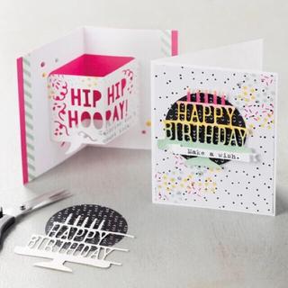 廃盤品 スタンピンアップ Party pop-up ダイ+おまけ(はんこ)