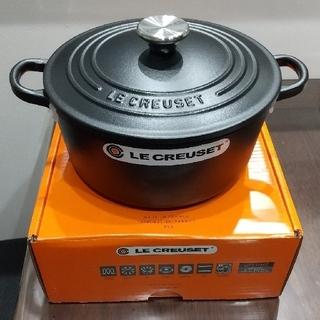 ルクルーゼ(LE CREUSET)の【新品未使用】ル・クルーゼ ココットロンド 22cm マッドブラック(鍋/フライパン)