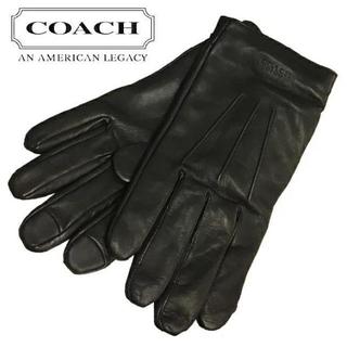 コーチ(COACH)の【COACH★F54182】コーチ メンズレザーグローブ 手袋 ブラック S(手袋)