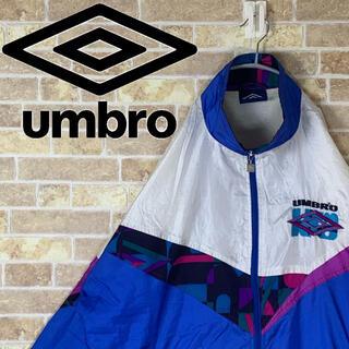 アンブロ(UMBRO)のumbro 刺繍ロゴ ゆるだぼ 90s ナイロン ブルゾン ビックシルエット(ナイロンジャケット)