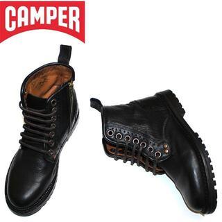 カンペール(CAMPER)の正規品CAMPERカンペール本革レザーブーツ/ブラック/36/23.0cm(ブーツ)